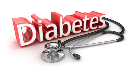 diagnosed: Diabetes text, 3d medicical Concept