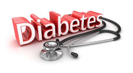 diabetes: Texto de la Diabetes, Concepto medicical 3d