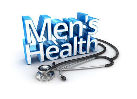 Men's Health text, medicine 3d Concept