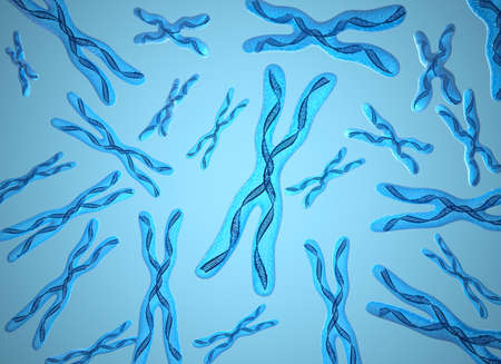 Chromosome x and DNA Strands background