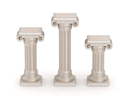 Antique doric style column - architectural detail Stock Photo