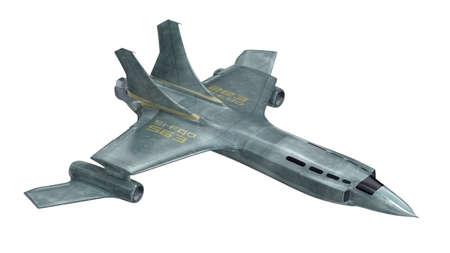 航空機: 未来の宇宙船。3 D のレンダリング。私自身のデザイン 写真素材
