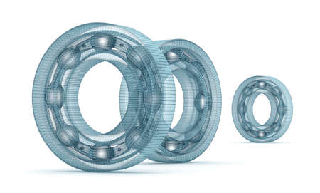 bearing: Wire bearing design, isolated on white