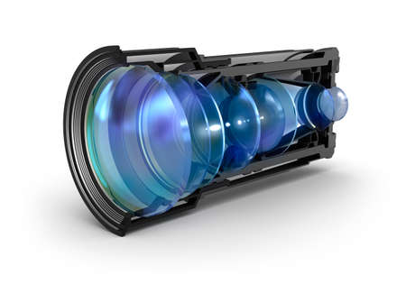 zoom: Sectional camera lens view