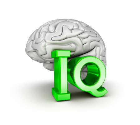 the test: Iq test and brain, 3d Concept