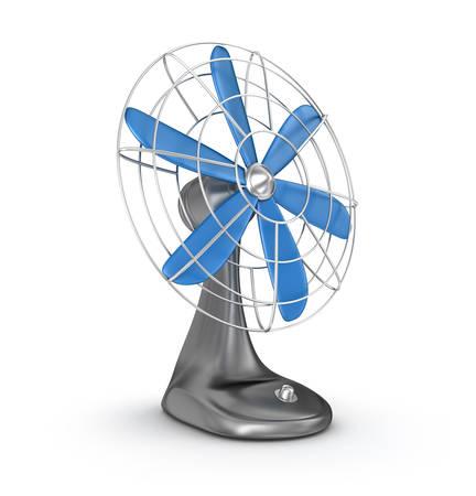 Old style electric fan 3D rendering