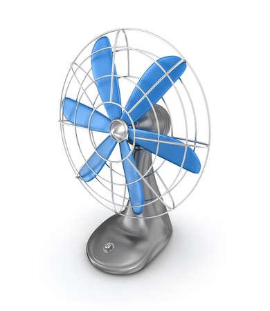 casing: Old style electric fan 3D rendering