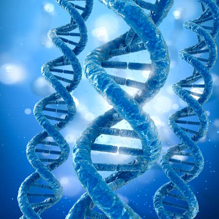 guanine: DNA molecule concept, Medical accurate 3D illustration
