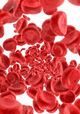Blood Cells background, 3D illustration