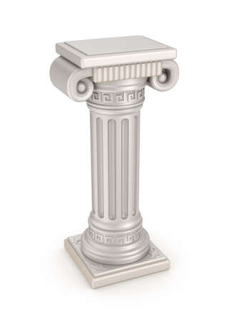 roman pillar: Ancient pillar, 3D illustration Stock Photo