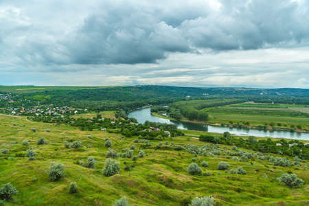 East Europe Nister river landscape Stock Photo