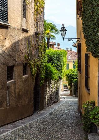 View of Menaggio old street. Province Como. Italy