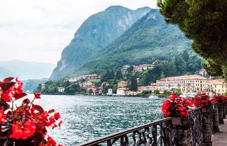 Menaggio on lake Como, Italy. View from embankment