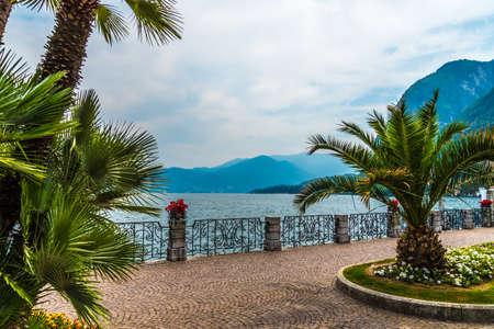 Menaggio embankment on lake Como, Italy