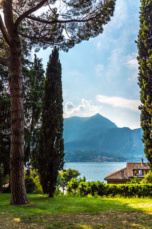 Lake Como, Italy, view from Bellagio park