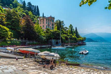 Varenna on lake Como, Italy travel Stock Photo