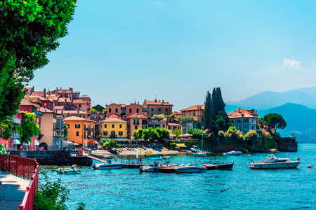 Small town Varenna on lake Como, Italy