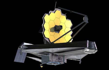 The James Webb Space Telescope (JWST or Webb), 3d illustration 스톡 콘텐츠
