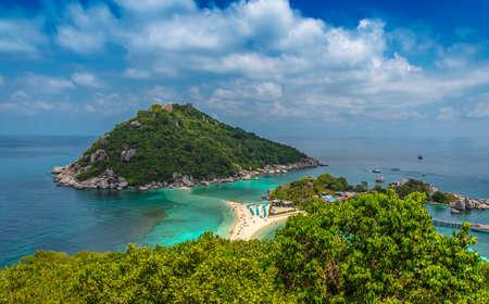 Nangyuan island viewpoint, Koh Tao, Suratthani Thailand