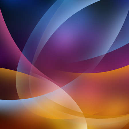 abstractly:  Transparent curve lines on a colorful surface  Stock Photo