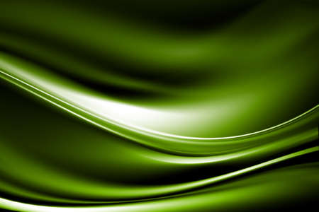 wry: Wave white glow lines on a green background