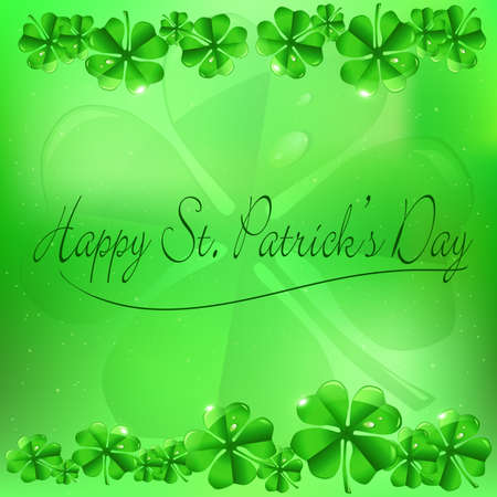 st  patrick:  Vector illustration of St  Patrick s Day background  Illustration