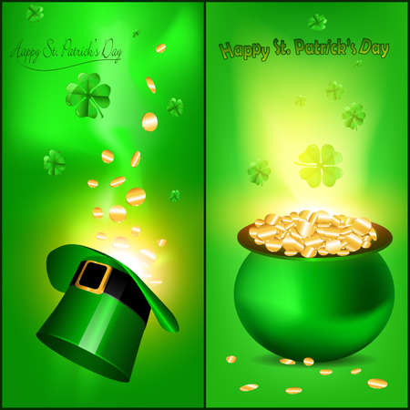 st  patrick   s: St  Patrick s greeting card design, vector illustration  Illustration