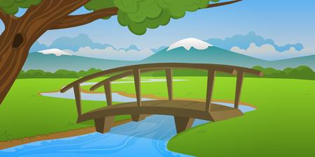 Pequeño puente de madera