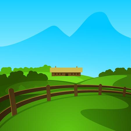 Zomer berglandschap vector illustratie