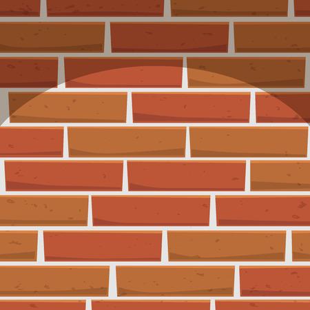 walling: Cartoon illustration of brick wall with texture