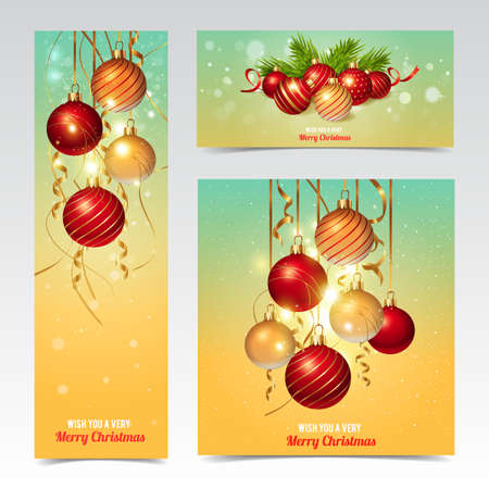 Christmas banners design, vector illustration  Vector