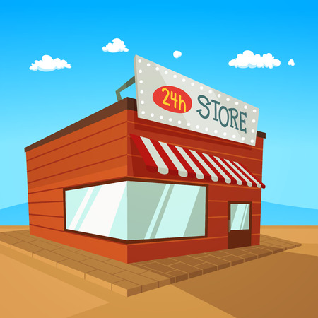 consume: Store on the road in desert