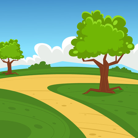 walking trail: Cartoon Landscape