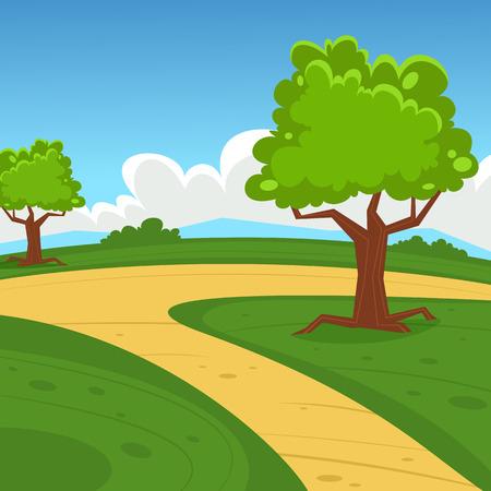 paysage dessin anim�: Paysage Cartoon