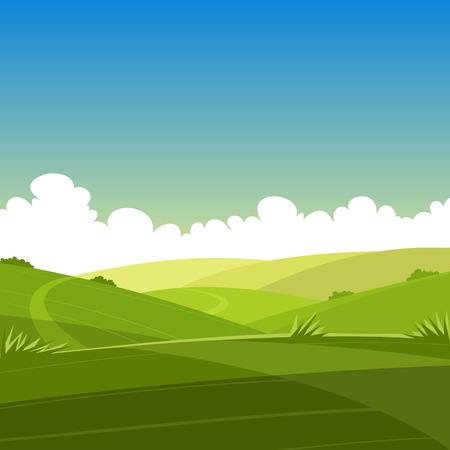 Cartoon Landschap van de zomer Stockfoto - 33259350