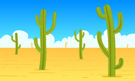 dry land: Desert Cartoon Landscape