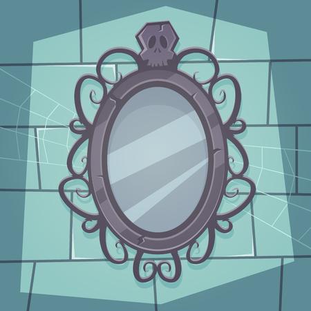 reflection mirror: Creepy Mirror