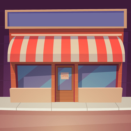 store window: Cartoon Store Illustration