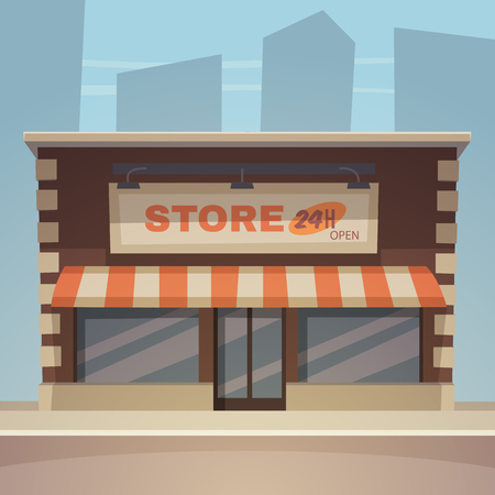 Cartoon Store Stock Illustratie