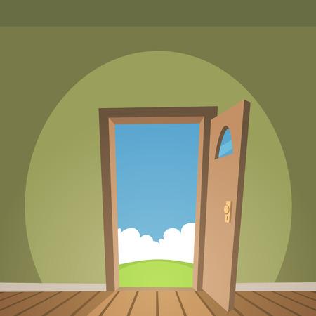 Porte ouverte Vecteurs