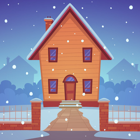winter time: Cartoon House -Winter Time