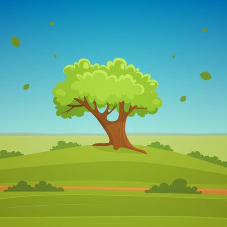 Cartoon Landschap