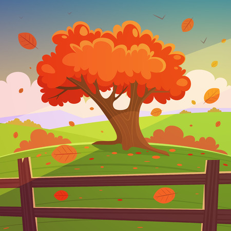 sunset tree: The Autumn Tree
