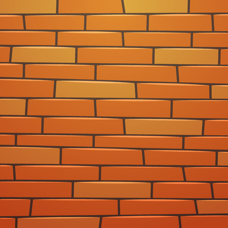 bakstenen muur: Cartoon Brick Wall