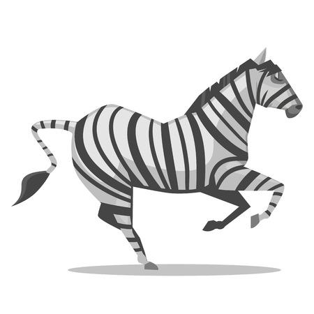 hooves: Zebra Cartoon Illustration