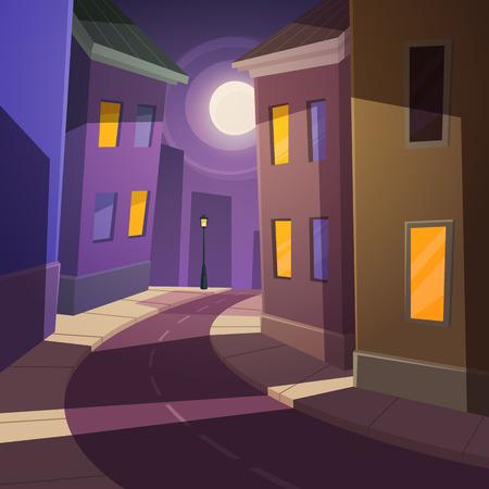 Nacht straat Stock Illustratie