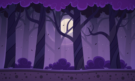 Night Forest Background Illustration