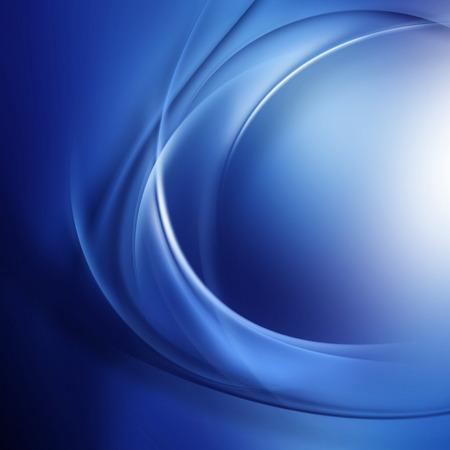 Transparante spiraal lijnen op een blauwe ondergrond.