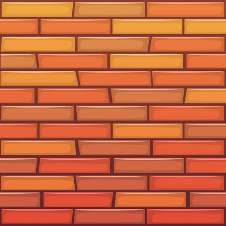 building wall: Cartoon Brick Wall