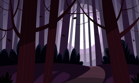 jungle foliage: Night Forest Trail